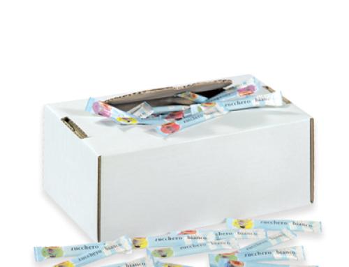 ZUCCHERO BIANCO IN BUSTINE STICK – box 100-150-200 bustine