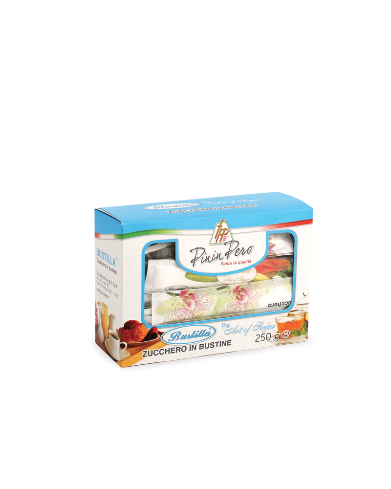 BUSTILLA WHITE SUGAR FLAT STICK 250 g pack