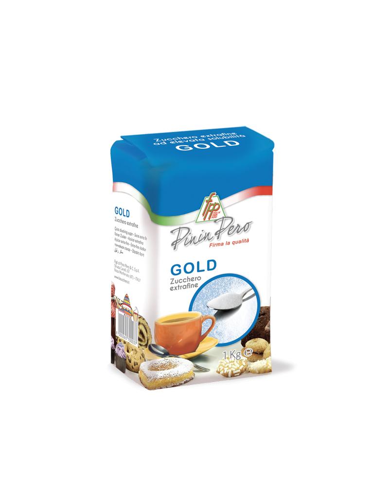 ZUCCHERO BIANCO EXTRAFINE GOLD pacco carta 1 kg